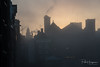 Fog @ Damrak (Amsterdam) (PaulHoo) Tags: building architecture amsterdam nikon 2017 d750 fog mist silhouette cityscape damrak rokin grasshopper