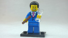 Brick Yourself Custom Lego Figure Businessman with Cigar & Champagne Flute