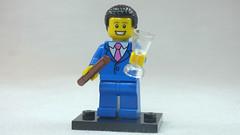 Brick Yourself Custom Lego Figure Businessman with Cigar & Champagne Flute