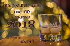 Neujahrsgruß 171228 (Bianchista) Tags: 2017 bianchista bokeh dezember whiskey whisky happy new year gutes neues jahr ein guter rutsch neujahrsgrüsse