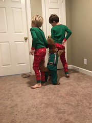 Candy's Marley with her matching PJs iwth her brothers!