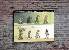 Homo Naledi (Sklokapus) Tags: homonaledi discovery human politics publicdomain poster people apes darwin cartoon canada polics religion monkey brickwall bricks building sticker satire streetwall funny study graffiti graphicart graphic wall words picture frame