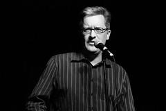 Jason Beck (chearn73) Tags: jasonbeck winnipeg comedian comedy onstage portrait blackandwhite canada manitoba