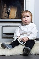 Do I have to sit here? (jannaheli) Tags: suomi finland joutseno nikond7200 lapsivalokuvaus childphotography lapsi child poika boy valokuvaus photoshooting photography photographing valaisu strobist homestudio