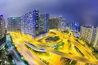 Hong Kong ~ 香港紅磡車軌 ~ night-car-trail