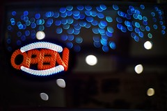Open for business (PeterThoeny) Tags: cupertino sanjose siliconvalley sanfranciscobay sanfranciscobayarea restaurant business open sign neon neonsign lights blur outoffocus depthoffield bokeh sony sonya7 a7 a7ii a7mii alpha7mii ilce7m2 fullframe dreamlens vintagelens canon50mmf095 f095 canon 1xp raw photomatix hdr qualityhdr qualityhdrphotography fav100