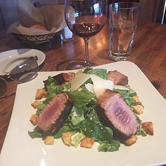 #celebratinglife #goodfood #vino #chianti #thinking #planningahead #failurenotanoption #thefutureisbright #ceasarsalad #tuna #lifeisgood #oneluckyguy #floridabound (mikeyes2) Tags: december 20 2017 0245pm celebratinglife goodfood vino chianti thinking planningahead failurenotanoption thefutureisbright ceasarsalad tuna lifeisgood oneluckyguy floridabound