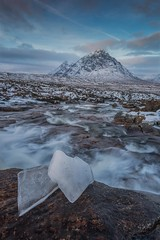 The Cauldron and Buachaille Etive Mor (Chris_Hoskins) Tags: wwwexpressionsofscotlandcom scottishlandscapephotography scotland winter herdsman glencoe scottishlandscape landscape cauldron waterfall buachailleetivemor scottishwinter ice