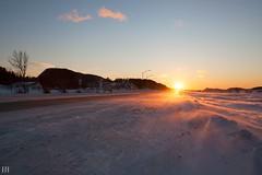 Couchant (NeoNature) Tags: canon nature france landscape paysage sunset coucher soleil quebec canada 132 route road neige winter hiver snow wind vent snowdrift