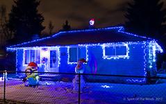 Love The Blue (jimgspokane) Tags: christmas christmaslights christmasdecorations spokanewashingtonstate