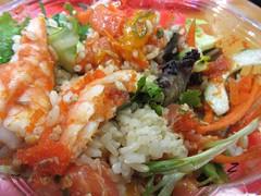 Ola Poke5 (annesstuff) Tags: annesstuff food poke hawaiian japanese seaweed shrimp seafood roe sushi rice mandarinorange mixedgreens salmon fish