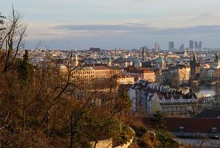 Prague on the sunset