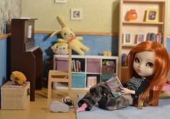 Julie's room (-gigina-) Tags: julie pullip doll aquel rewigged rechipped nikon d3100 room diorama obitsu