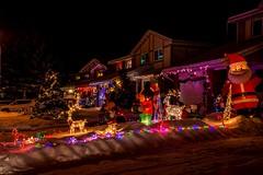 DSC_0589 (Copy) (pandjt) Tags: ottawa orlèans on ontario taffylane christmas christmaslights christmasseason christmasspirit lights lighting nightphotography night ledlights ledlighting house colours colors decorations winterscenic winter winterphotography
