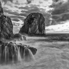 Faraglioni di mezzo (Giovanni Aprea) Tags: giovanniaprea d800 afs2018g seascape capri bw longexposure nofilters