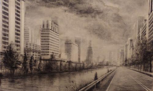 ciudad nubes