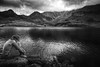 cloudy now (Chrisnaton) Tags: melchseefrutt lake mountainlake mountains clouds blackandwhite lakeside alpine