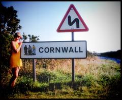 A trip to Cornwall in 1975... (iEagle2) Tags: woman wife ehefrau england cornwall 1975 female femme frau film summer slide