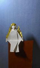 Ange 2017D (Viviane des Papiers) Tags: vivianeberty origami ange angel
