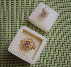 """Gonna """"ring in"""" the New Year (MissyPenny) Tags: amethyst ring jewelry present gold"""