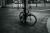 Best wishes to 2018! (Amselchen) Tags: bicycle mono city cityscope sidewalk light bnw blackandwhite bokeh blur dof depthoffield sony a7rii alpha7rm2 zeiss carlzeiss sonnart1855 sonnar 5518 za sonnar5518za fe55mmf18za sonyilce7rm2
