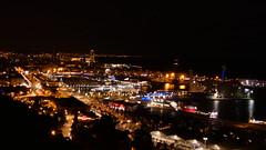 Barcelona de nit (bertanuri bcn) Tags: bcn barcelona nit nuit night nocturna cat catalunya catalonia catalogne harbour mar sea panasonic lumix leica fz82