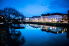 Streets of Malmö (Maria Eklind) Tags: bluehour bridge street water spegling city rörsjökanalen dusk canal kaptensbron malmö bro sky twilight blue kanal reflection building södraförstadskanalen sweden streetsofmalmö skånelän sverige se