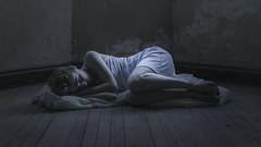 Soledad (LOrenaCA) Tags: soledad tristeza portrait fineart woman blue