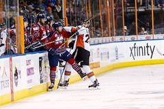 """Kansas City Mavericks vs. Kalamazoo Wings, January 5, 2018, Silverstein Eye Centers Arena, Independence, Missouri.  Photo: © John Howe / Howe Creative Photography, all rights reserved 2018. • <a style=""""font-size:0.8em;"""" href=""""http://www.flickr.com/photos/134016632@N02/25707980358/"""" target=""""_blank"""">View on Flickr</a>"""