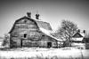 old barn (light shift) Tags: oldbarn barn barnyard farm abandoned relic old demolished winter laclabiche kevinwahl lightshift toned
