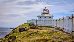 The Old Lighthouse (Brett of Binnshire) Tags: historicalsite capespear lrhdr highdynamicrange manipulations locationrecorded hdr lightroomhdr architecture canada newfoundland historicbuilding lighthouse fence