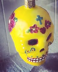 La Sirena Ornament - 2 (booboo_babies) Tags: diadelosmuertos sugarskull dayofthedead yellow lasirena ornament mexican mexicanrestaurant christmas holiday restaurant christmastree
