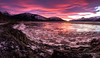 Nature's Artwork (Traylor Photography) Tags: alaska december wideangle indian landscape winter railroad sunrise iceflow mountains panorama clouds sewardhighway lightsource reflection anchorage unitedstates us