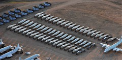 58 former Royal-Air-Force/ RAF & Royal-Navy/ RN British Aerospace Harrier GR-7, GR-9 and T-10 fuselages. Seen stored at Davis-Monthan AFB/ AMARG, Tucson, Arizona. 05-06-2016. (Aircraft throughout the years) Tags: bae 58 former royalairforce raf royalnavy rn british aerospace harrier gr7 gr9 t10 fuselages seen stored davismonthan afb amarg tucson arizona june 2016