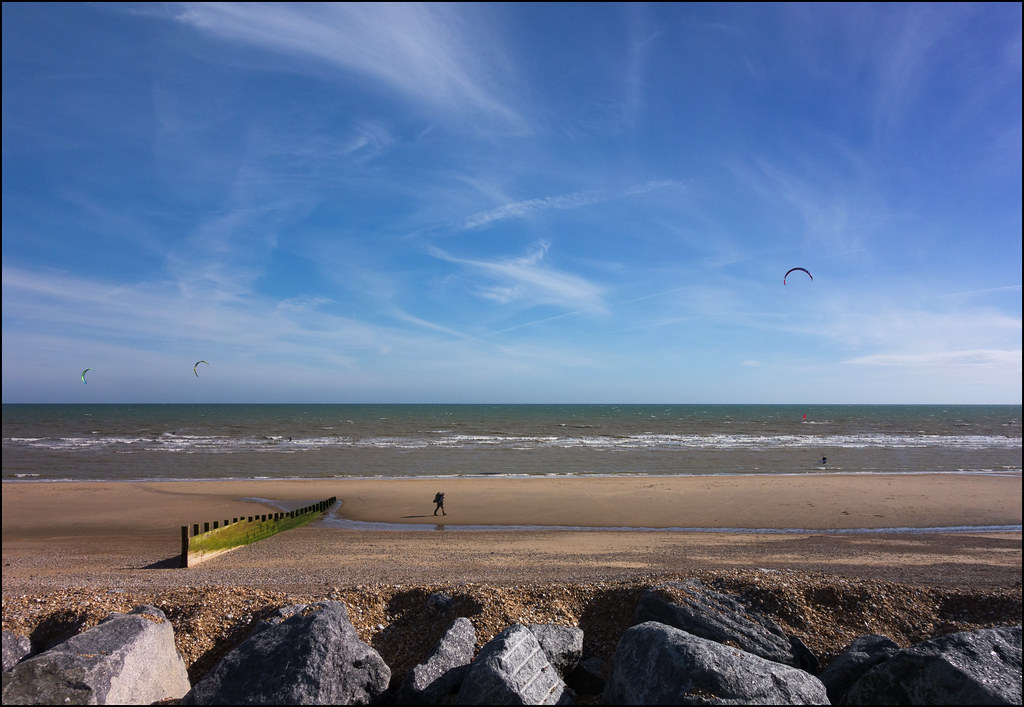 Wind surfing beach, Camber Sands (6/17 ay74)