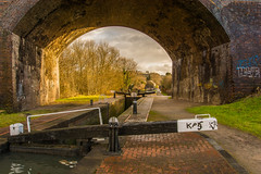 Parkhead Locks & Via-duct (williamrandle) Tags: sigma1835f18art dudley westmidlands netherton englamnd uk 2017 winter parkhead blackcountry nikon d7100 canal dudleyno1 tree green history structure