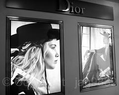 Dior Christian Boutique, Bahnhofstrasse 13, Zurich, Switzerland (jag9889) Tags: 2017 2017holidaywindowdisplay 20171231 bw bahnhofstrasse blackandwhite ch cantonzurich cantonofzurich christmas display dress europe fashion hat helvetia holiday kantonzürich monochrome outdoor photograph plakat poster reflection schweiz storewindow suisse suiza suizra svizzera swiss switzerland window woman zh zurich zürich jag9889