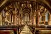 eine fränkische Kirche in Hammelburg  - HDR (gabrieleskwar) Tags: kirche hdr altar halle bänke steine säulen mittelgang fenster holz