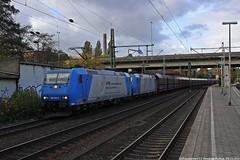 VPS 185 530+VPS 185 516 am 29.10.2016 mit einem Kohlezug in Hamburg-Harburg (Eisenbahner101) Tags: