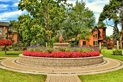 Belleville Ontario ~ Canada ~ Corby Rose Garden ~ Landmark (Onasill ~ Bill Badzo) Tags: fountain sculpture bright plant potted outdoor flower flowerbed landscape field 19250mm macrp sigma lens sl1 rebel canon landmark park hill east old tourist onasill family distillery corbyville water travel district historic attraction site heritage garden rose corby canada ontario on belleville wood tree forest