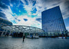 Subway Station in Brussels, Belgium (` Toshio ') Tags: toshio placecharlesrogier brussels belgium rogier subway architecture building downtown city clouds europe europeanunion european fujixt2 xt2
