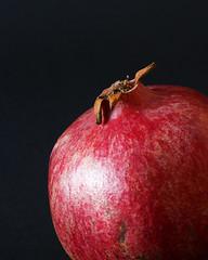 Nar (mandrej) Tags: pomegranate fruit food stilllife blackbackground