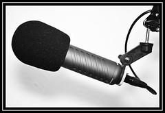 """Rode Procaster Microphone..."" (NikonShutterBug1) Tags: macro closeup nikond7100 macromondays spe smartphotoeditor blackandwhite rodeprocastermicrophone nikkor35mmf18gafsdx highkey"