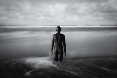 Another Place (Alan E Taylor) Tags: antonygormley atmospheric bw bw10stopfilter beach blackwhite blackandwhite coast coastal dark dramatic england europe fineart le location lightroom liverpool longexposure macphun macphuntonalityck merseyside mono monochrome noiretblanc ocean sea shore skylum statue tourism tourist travel uk unitedkingdom water britain british coastline waterloo gb