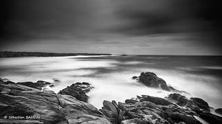 Vents forts sur le littoral breton