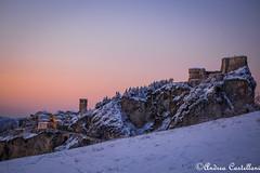 San Leo (Castello foto) Tags: neve tramonto valmarecchia san leo roccia panorama landscape cielo colori inverno ghiaccio