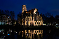 Feuersee Church #5 (Brian Out and About) Tags: feuersee churches stuttgart germany nikon d5200 architecture gothic europe amateur blue hour refletions water