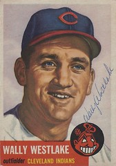 1953 Topps - Wally Westlake #192 (Outfielder) - Autographed Baseball Card (Cleveland Indians) (Treasures from the Past) Tags: 1953 topps 1953topps baseball cards baseballcard vintage auto autograph graf graph graphed sign signed signature wallywestlake clevelandindians outfielder
