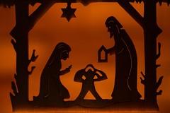 Lit by Candlelight (amarilloladi) Tags: 7dwf candlelight silhouettes bokeh wooden macromondays litbycandlelight christmas nativity ornaments sorrento souvenirs