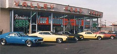 'Beam me back Scotty!' (old-days-better) Tags: 1970 ford mustang torino dealership neonsigns valleyford